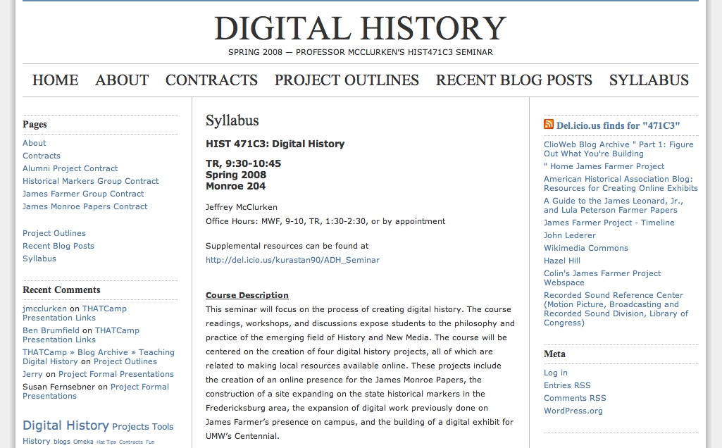 Digital History UMW