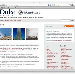 Duke WordPress screenshot