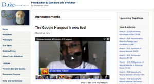 Hangout on Homepage