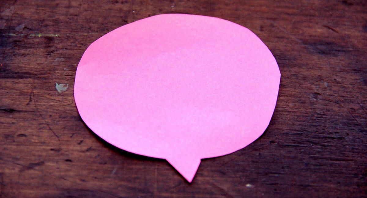 sticky note speech bubble
