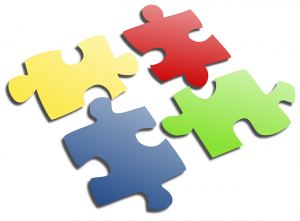Four jigsaw pieces
