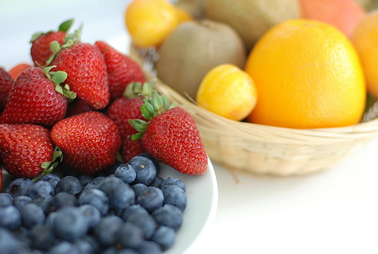 Bowls of fresh fruit