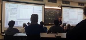 Dr Bucholz teaching her class