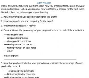 exam wrapper image