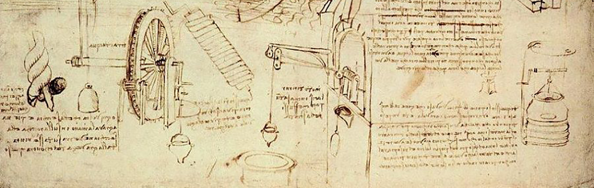 Da Vinci water lifting devices sketch